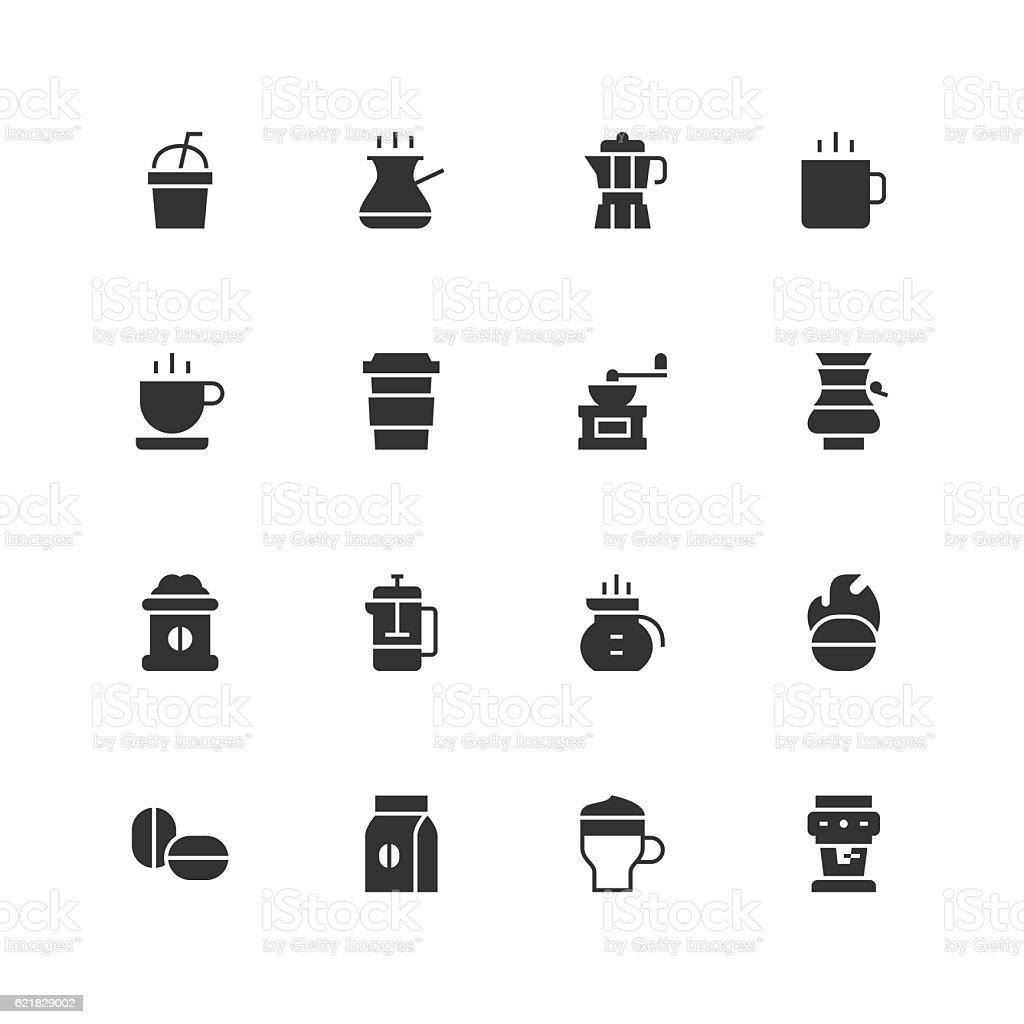 Coffee Icons - Unique vector art illustration