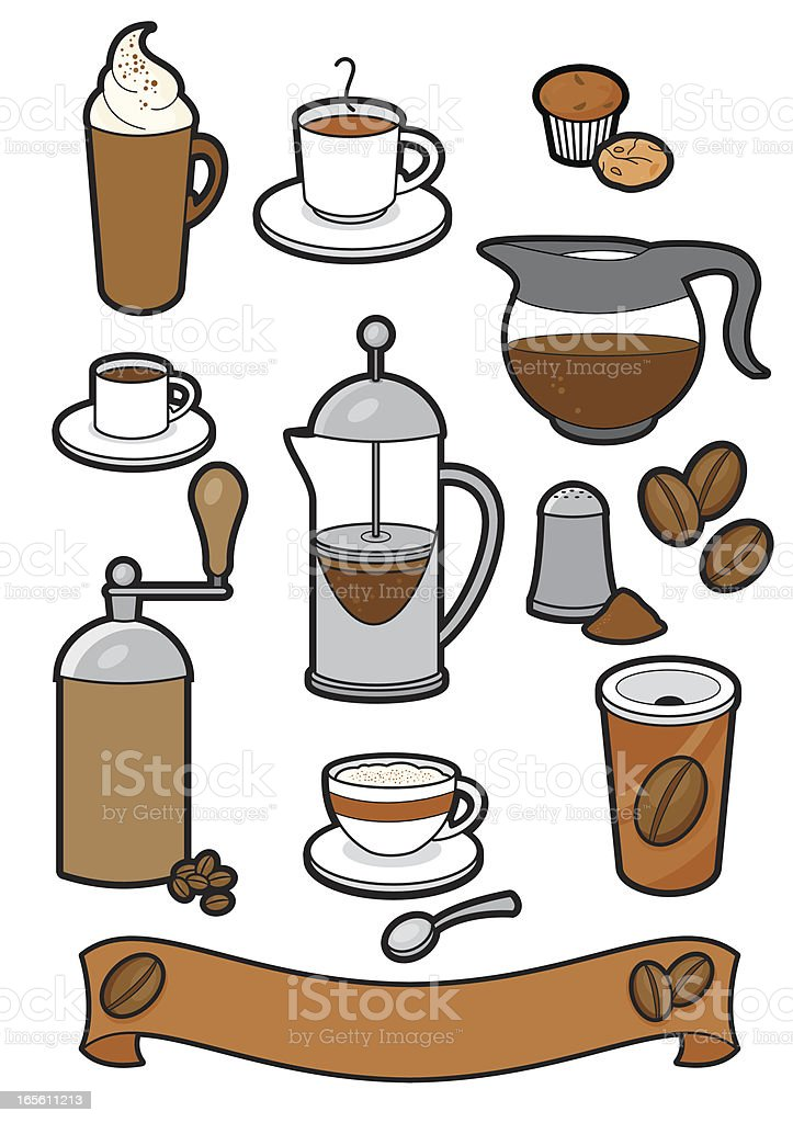 Coffee icons royalty-free stock vector art