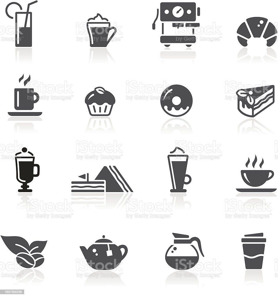 Caf? Icons vector art illustration