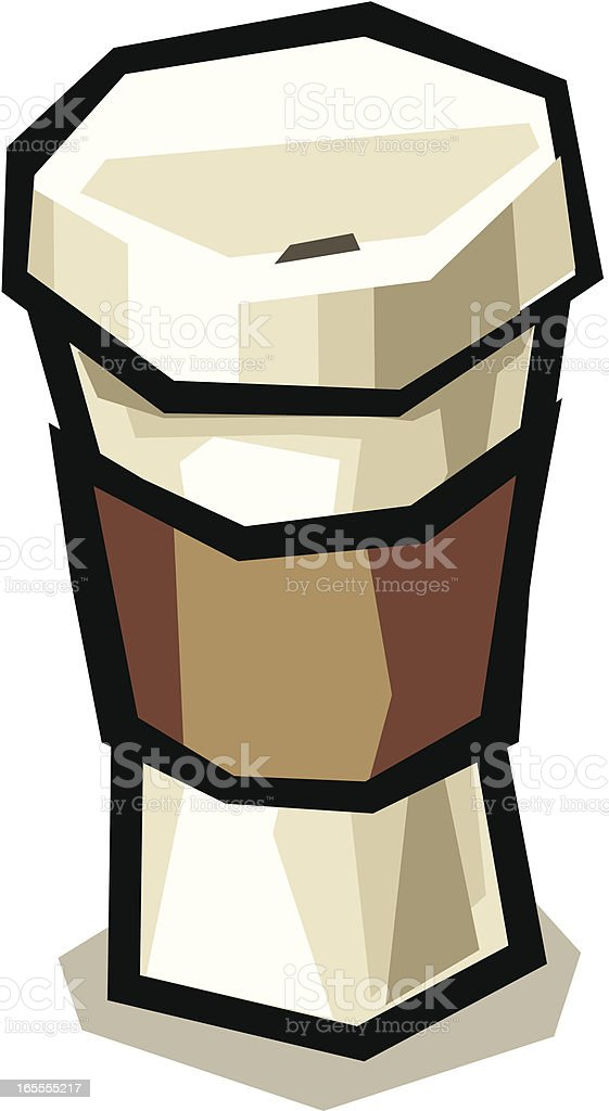 Coffee in a Paper Cup royalty-free stock vector art