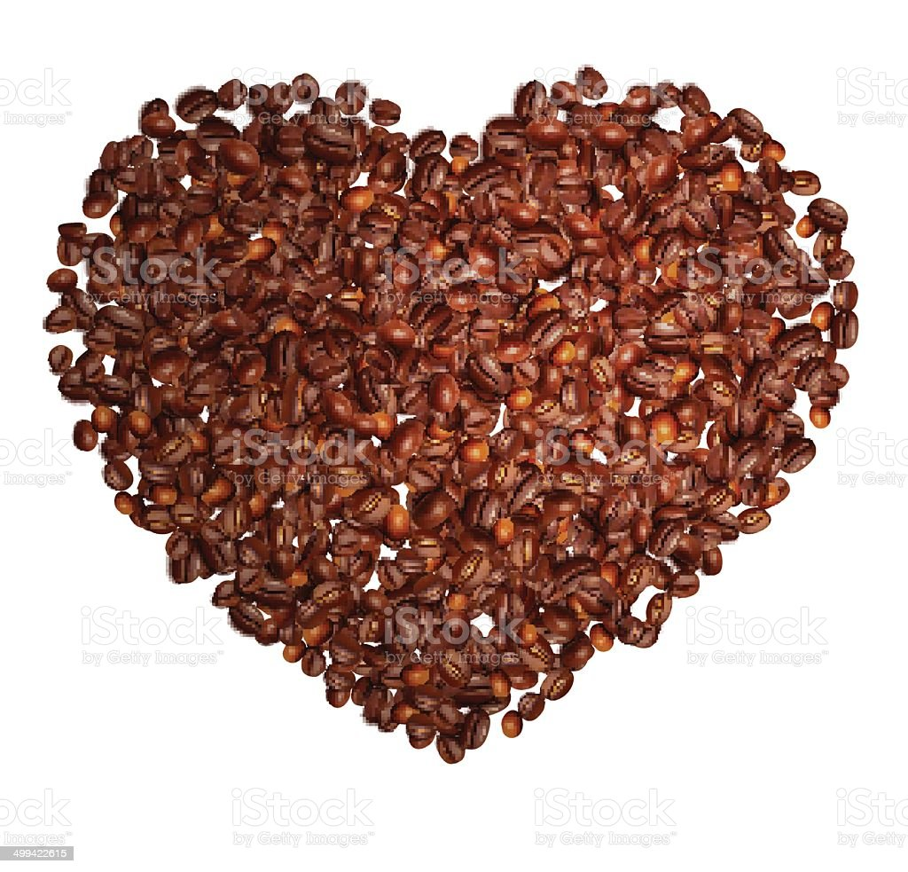 Coffee in grains royalty-free stock vector art