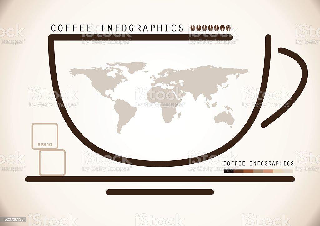 Coffee Infographics vector art illustration