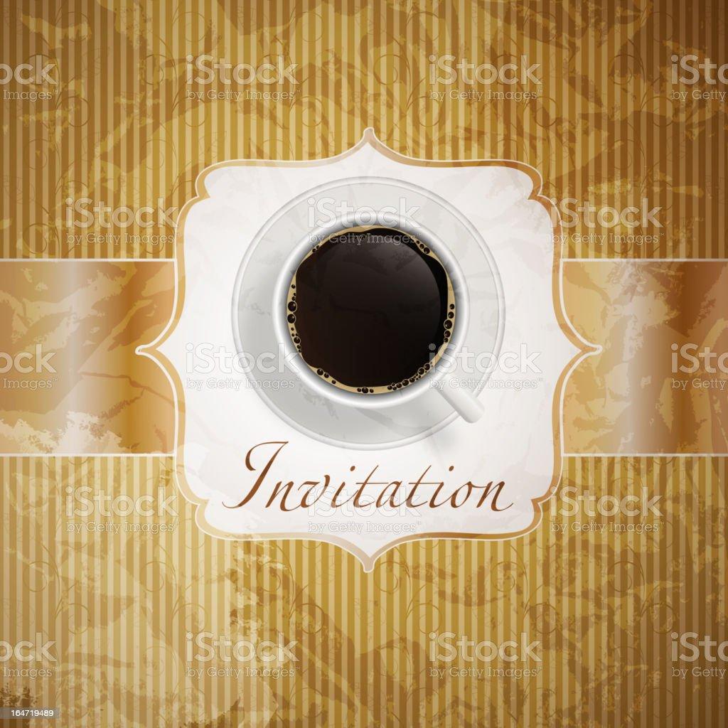 coffee invitation background royalty-free stock vector art