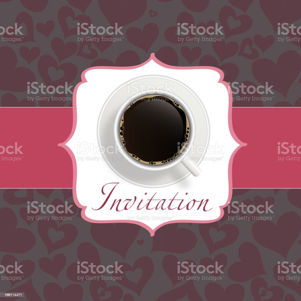 coffee invitation background royalty-free stock vector art