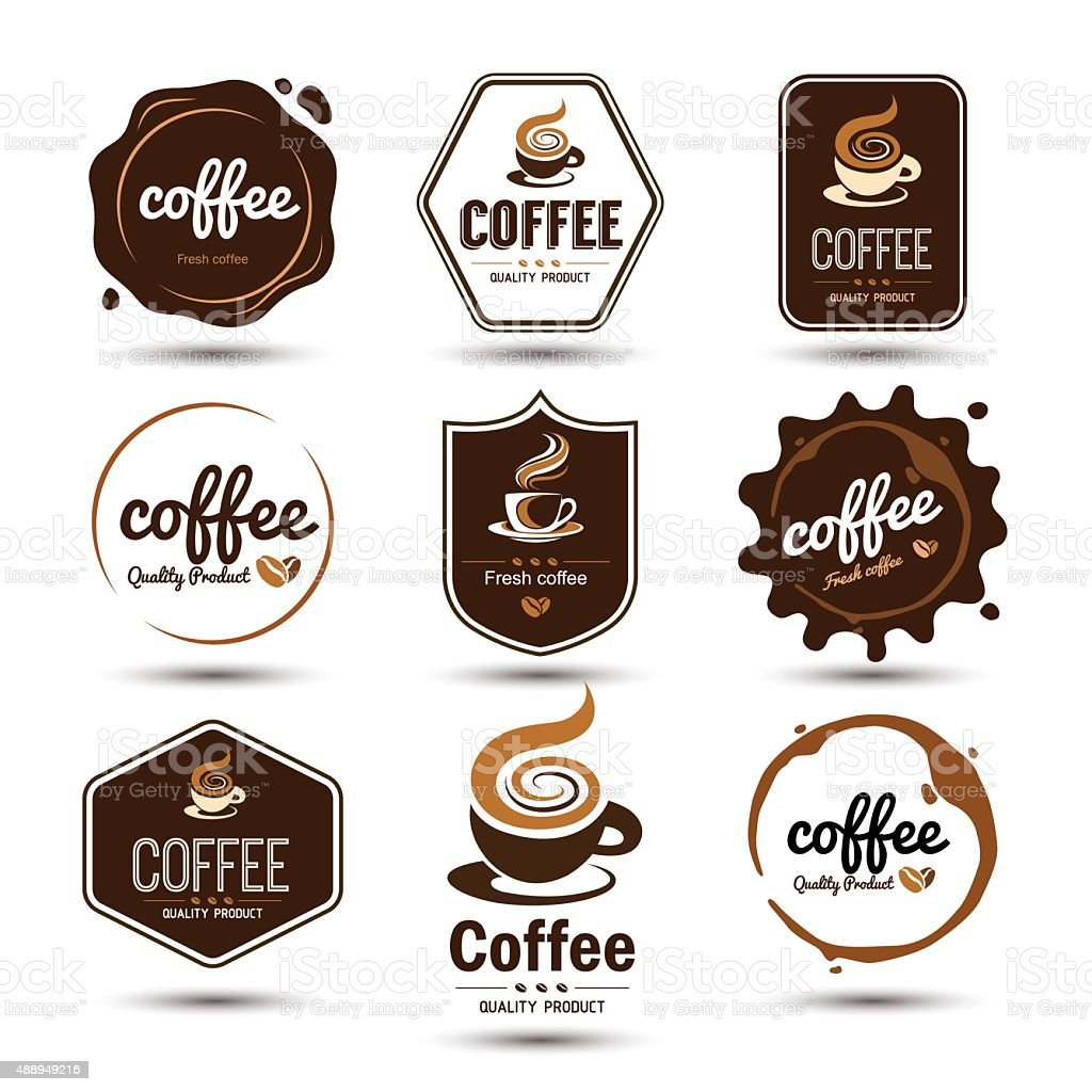 coffee label vector art illustration