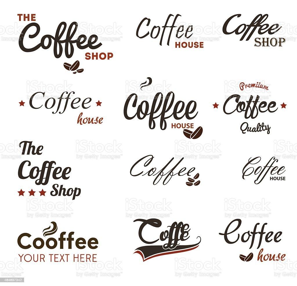 Coffee Labels - Illustration vector art illustration