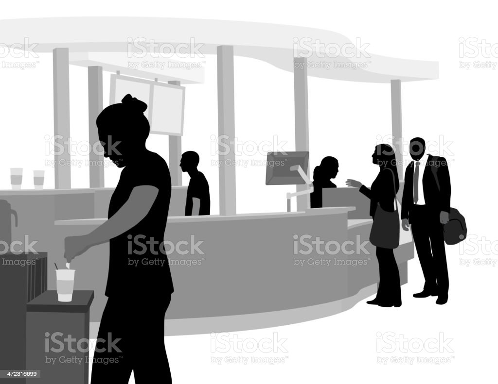 Coffee Lineup royalty-free stock vector art