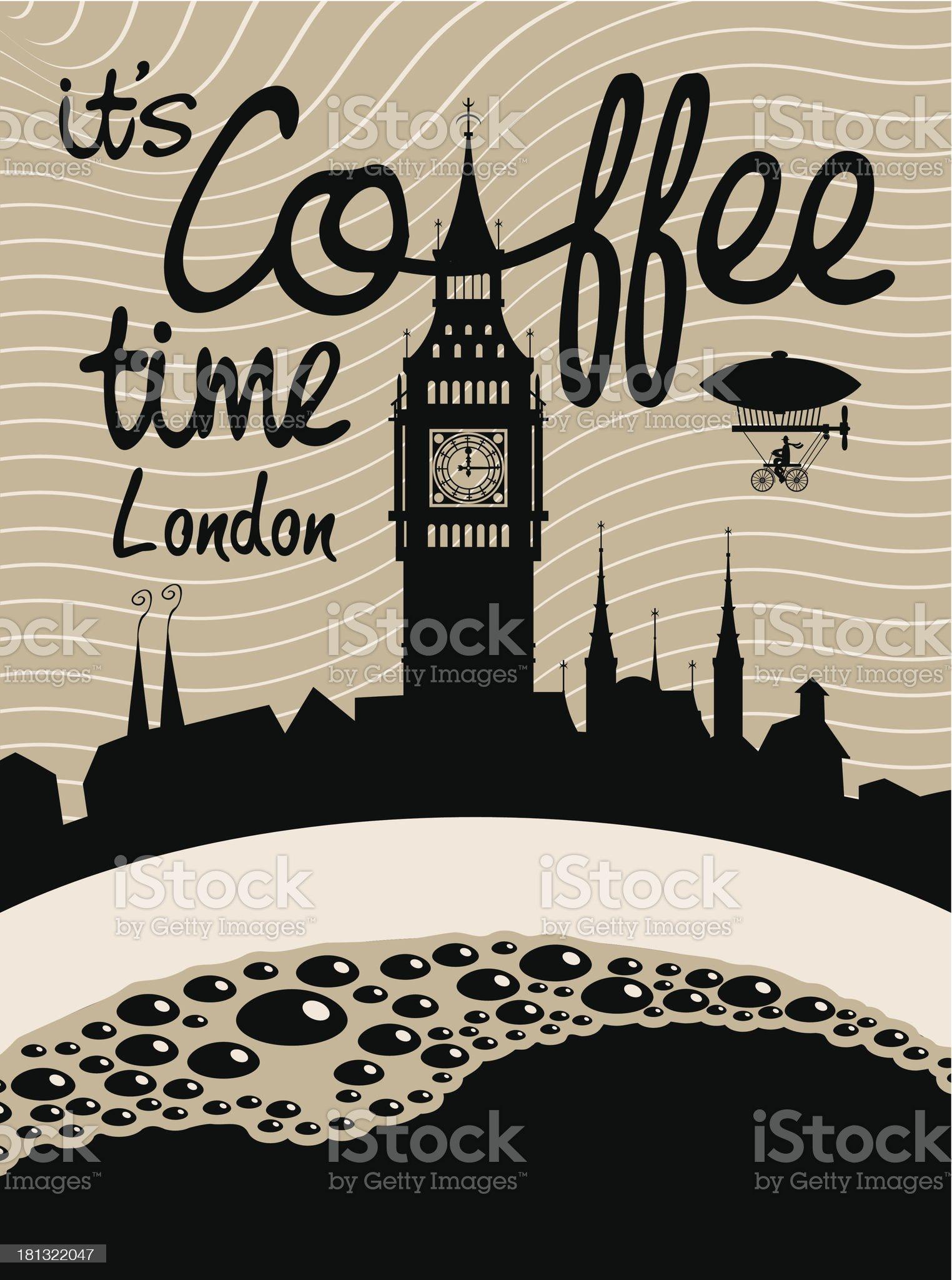 coffee london royalty-free stock vector art