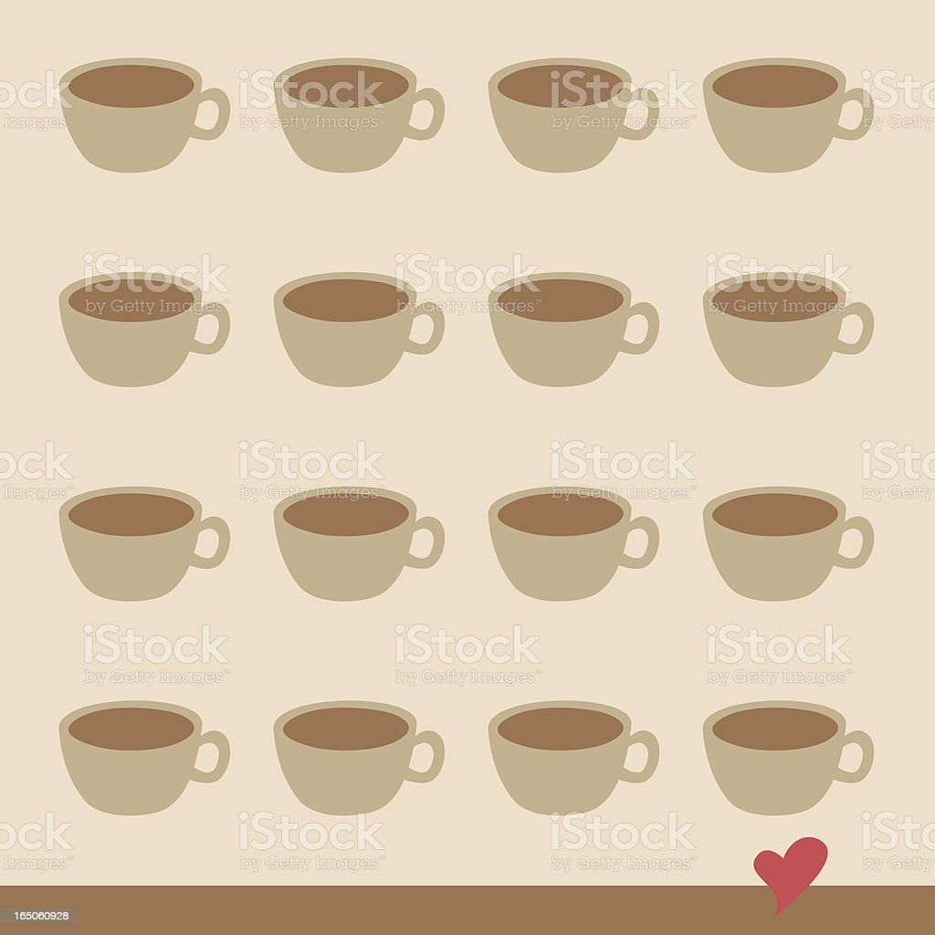 coffee lover background royalty-free stock vector art