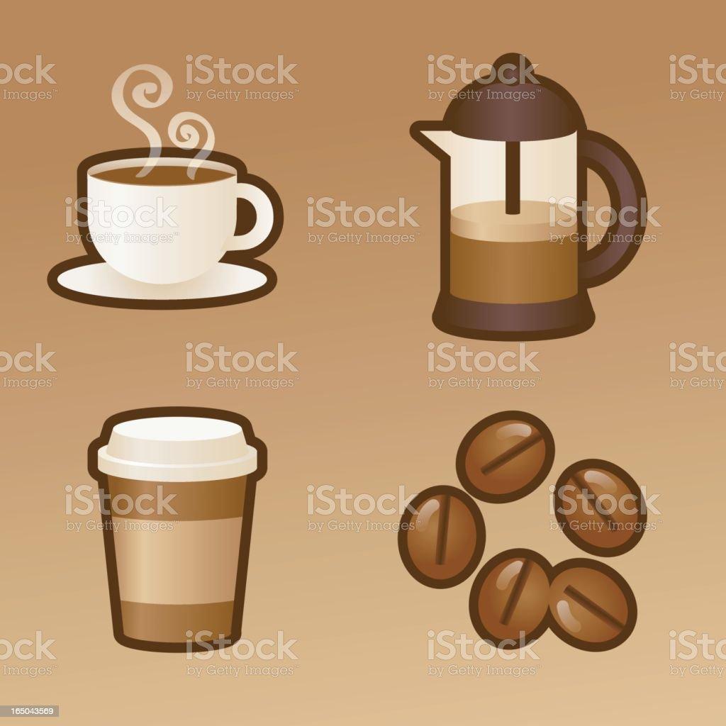 coffee lovers kit vector art illustration