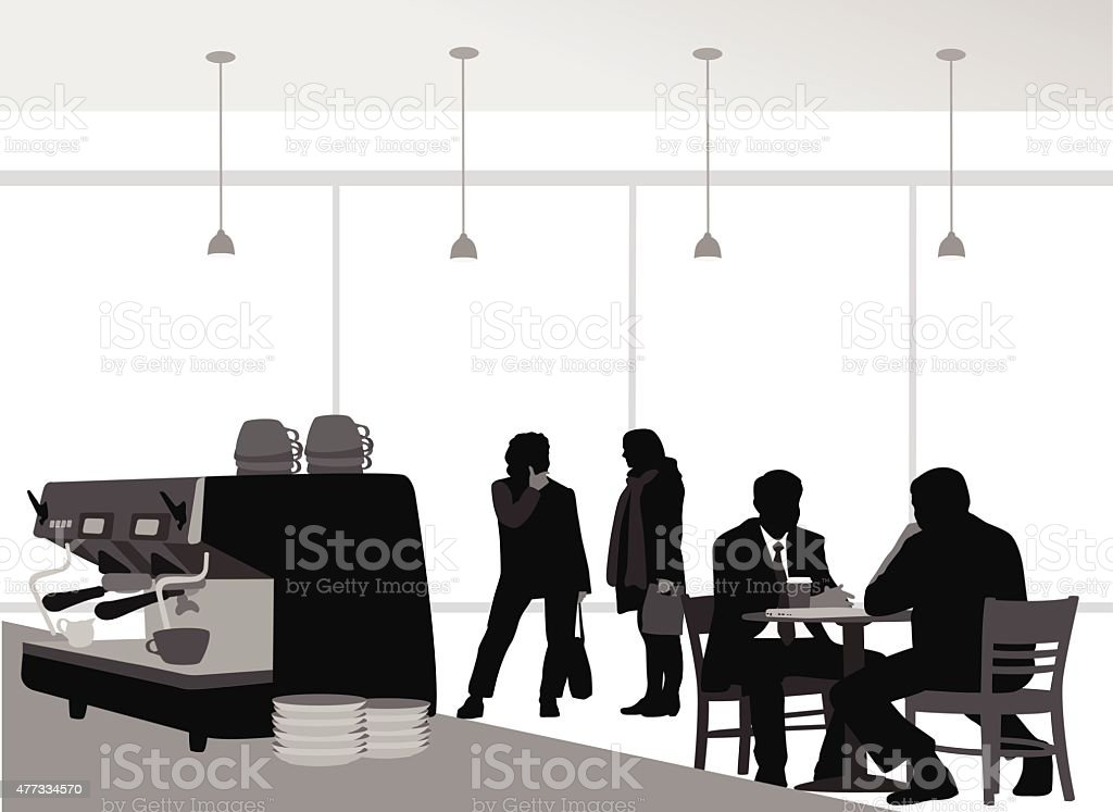 Coffee Lovers vector art illustration