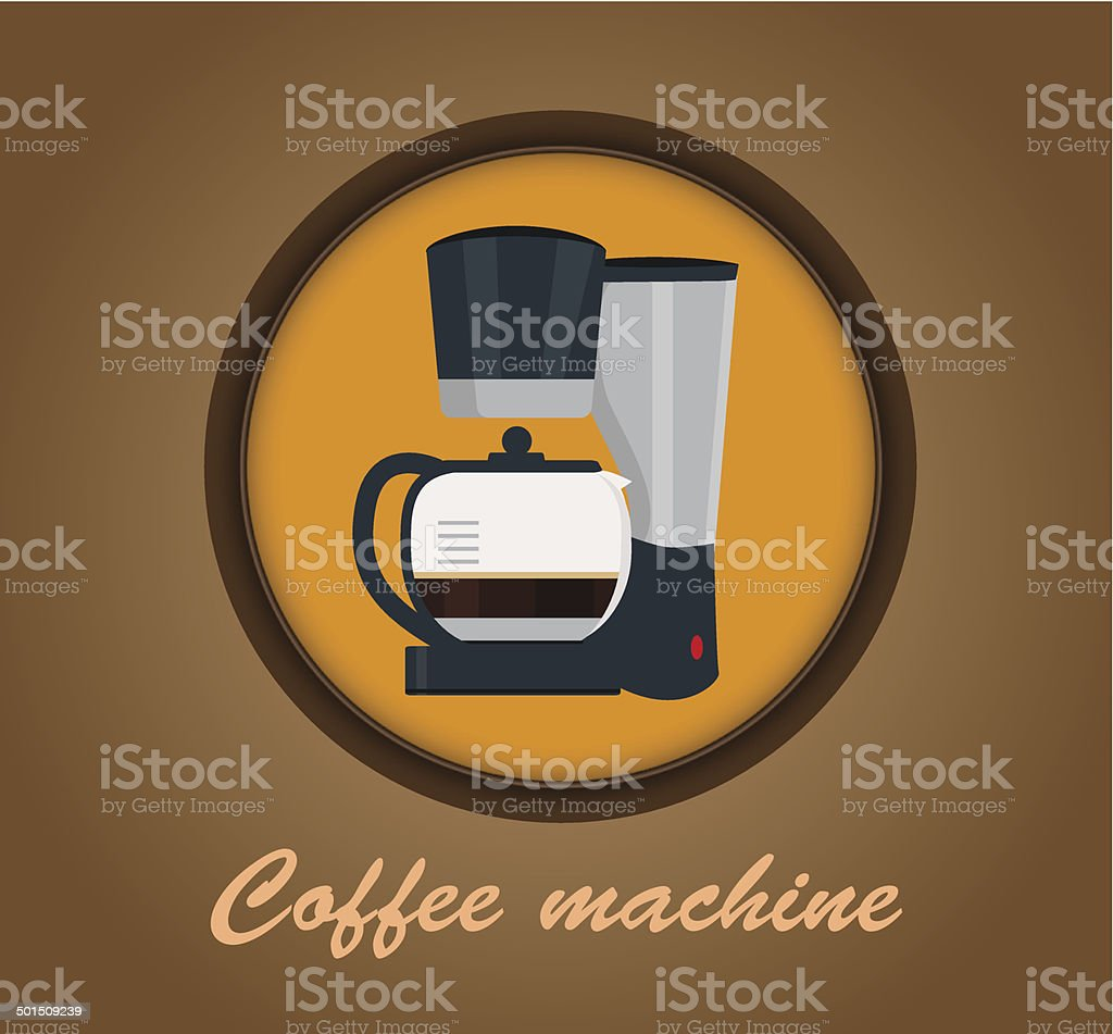 Coffee machine icon vector art illustration