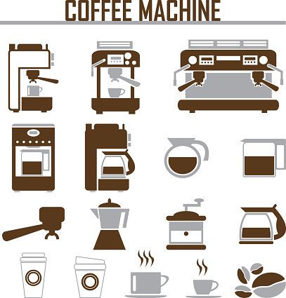 Coffee Maker Clip Art, Vector Images & Illustrations - iStock