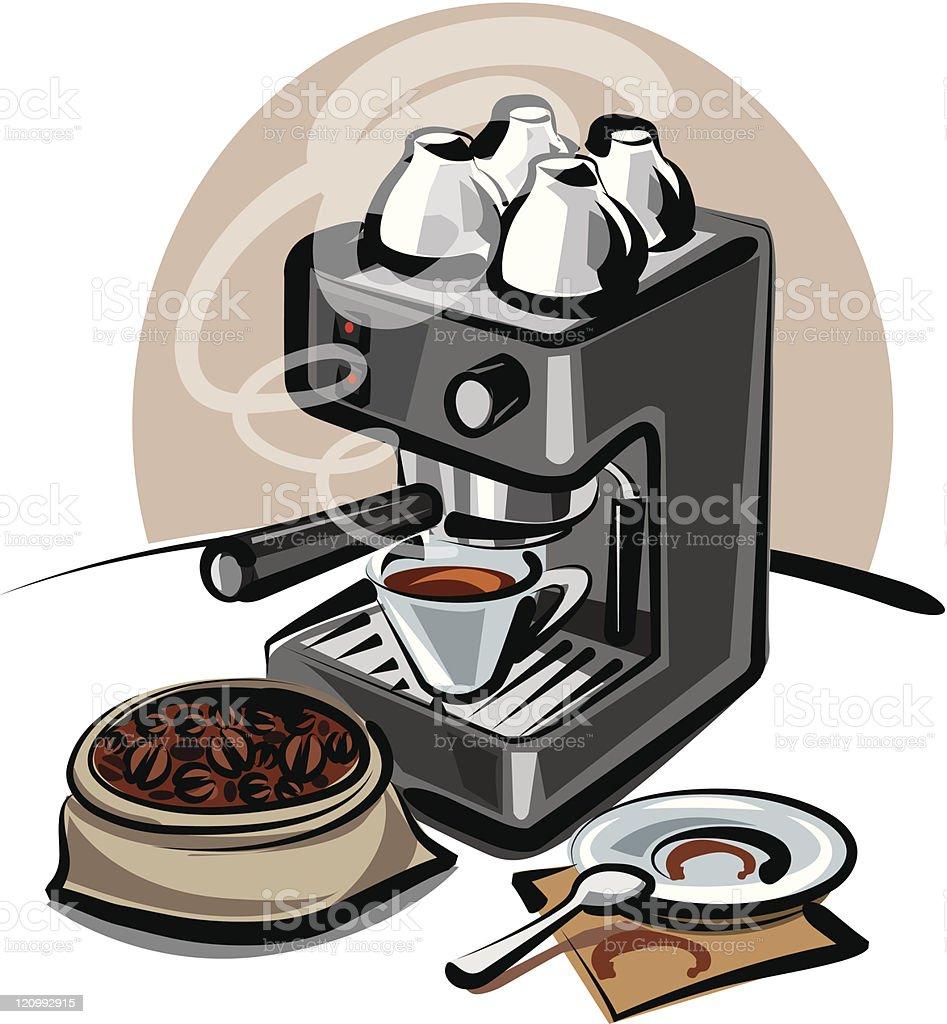 coffee machine royalty-free stock vector art