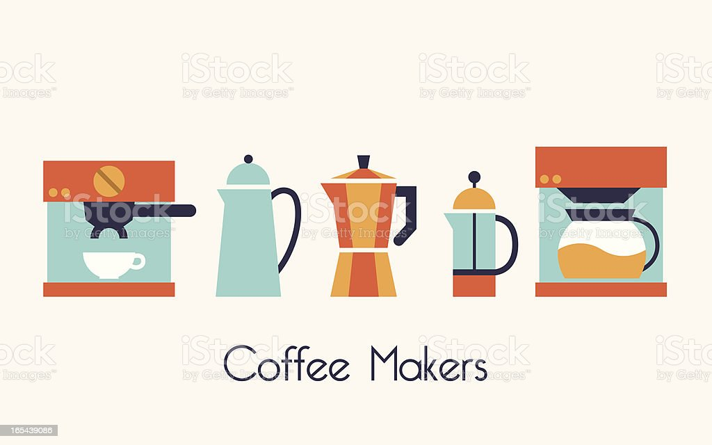 Coffee Maker royalty-free stock vector art