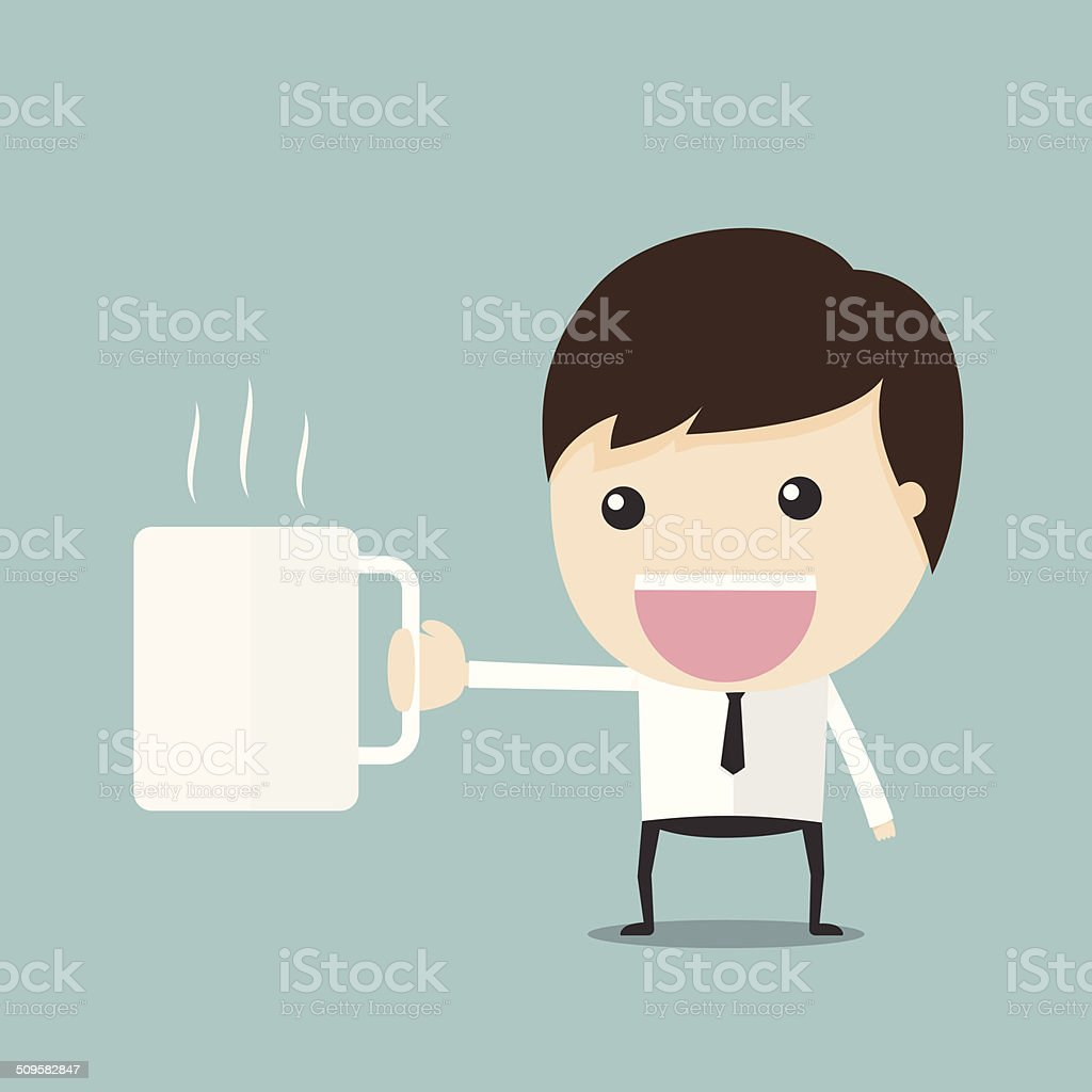 Coffee man vector art illustration