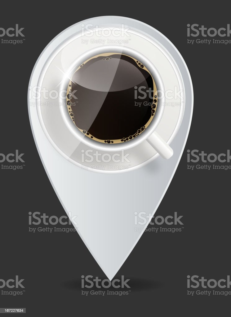 coffee map pointer vector illustration royalty-free stock vector art