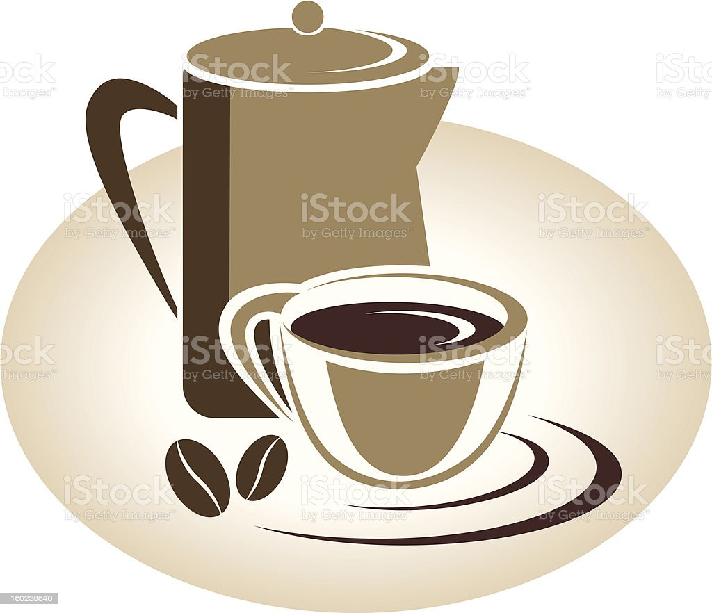 Coffee menu icon royalty-free stock vector art