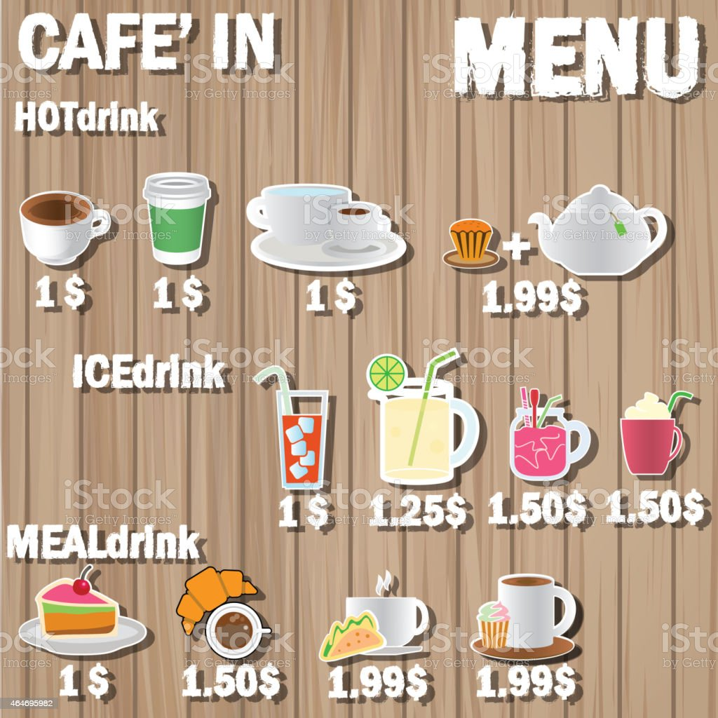 coffee menu label vector art illustration