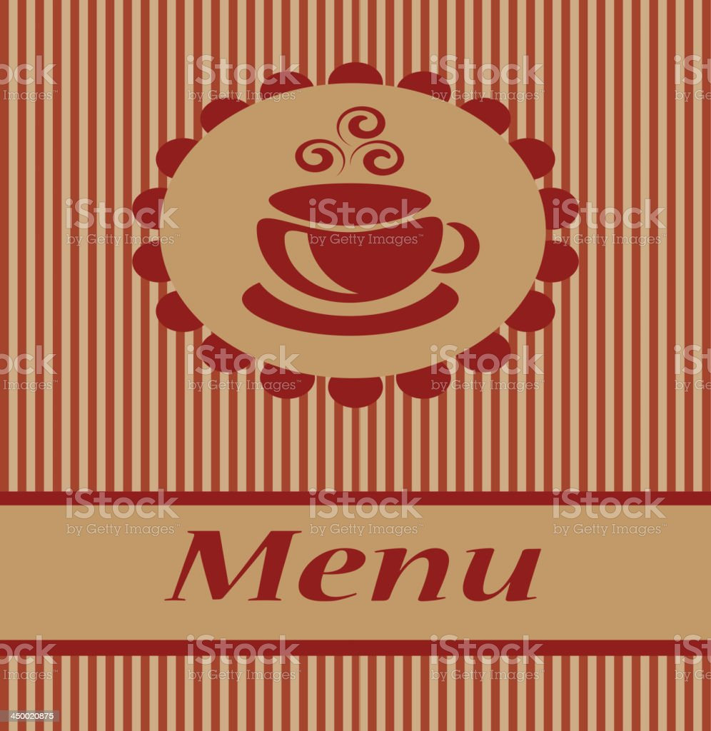 coffee menu royalty-free stock vector art