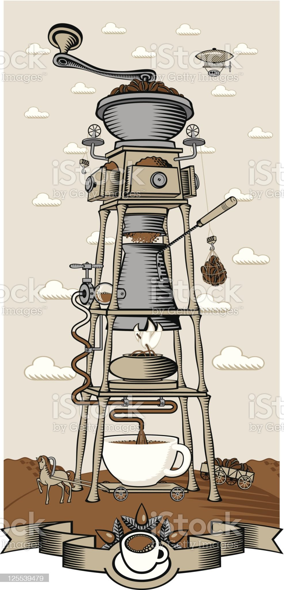 coffee mill royalty-free stock vector art