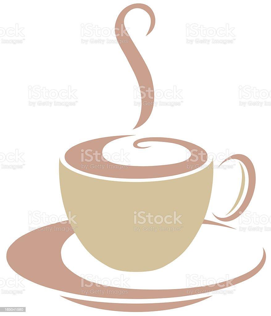Coffee or tea cup vector graphic logo vector art illustration