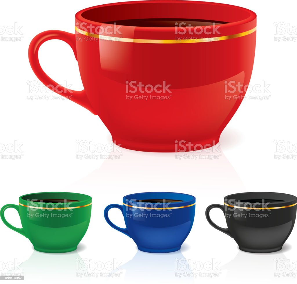 Coffee or tea cups royalty-free stock vector art