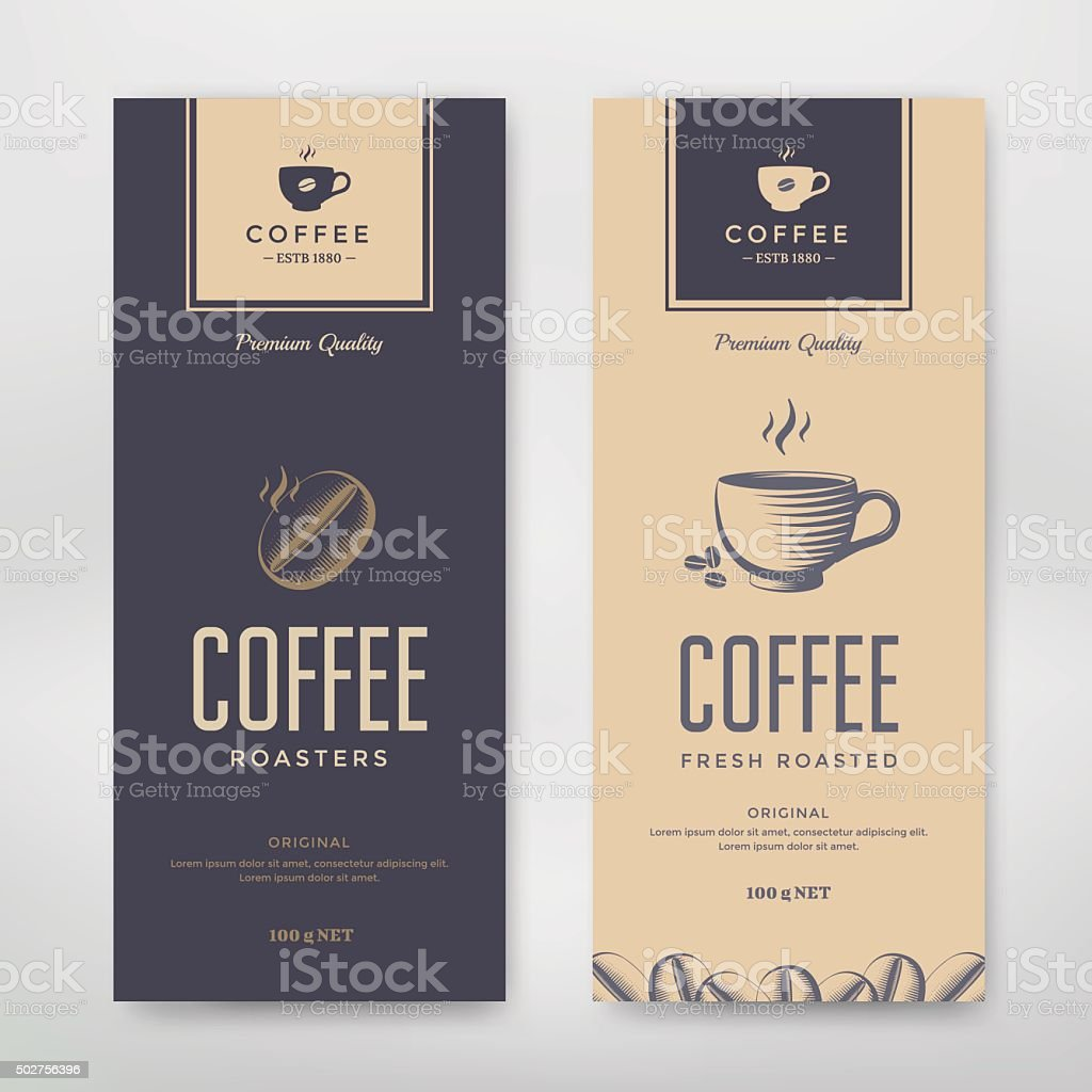 Coffee Packaging Design vector art illustration