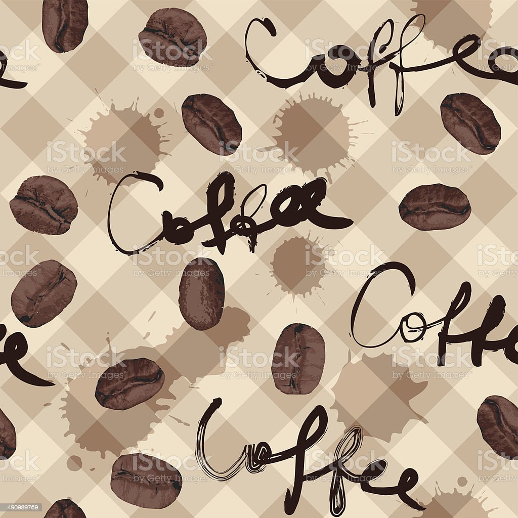 coffee pattern royalty-free stock vector art