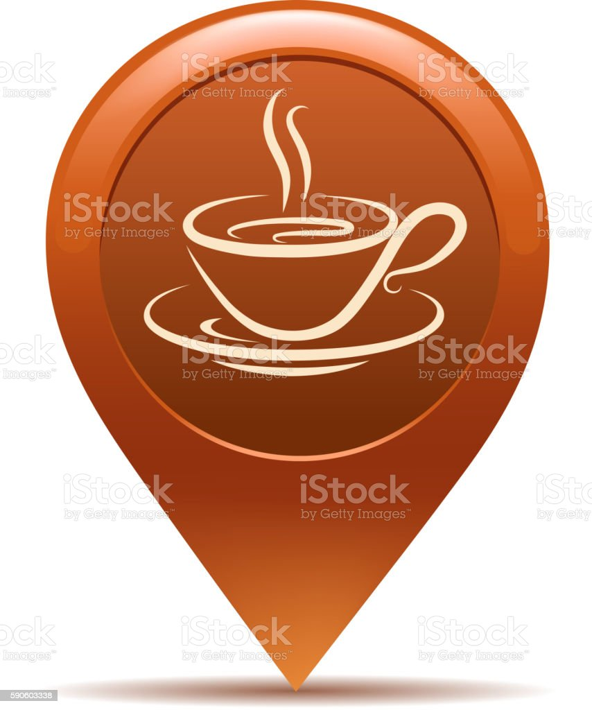 coffee pointing vector art illustration