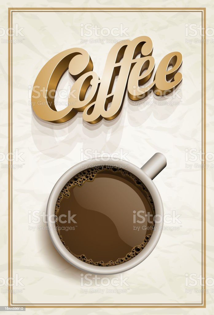 Coffee poster royalty-free stock vector art