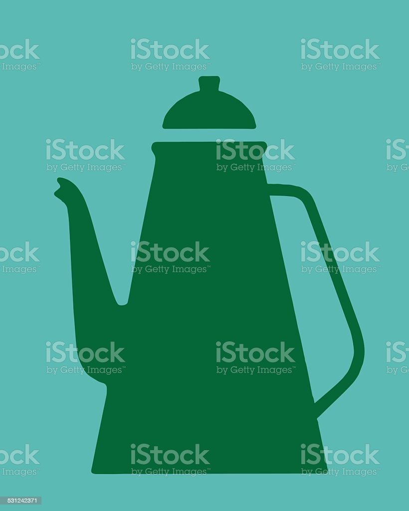 Coffee Pot vector art illustration