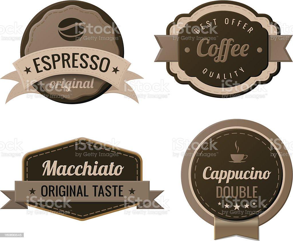 Coffee Retro Labels vintage design. Vector. vector art illustration