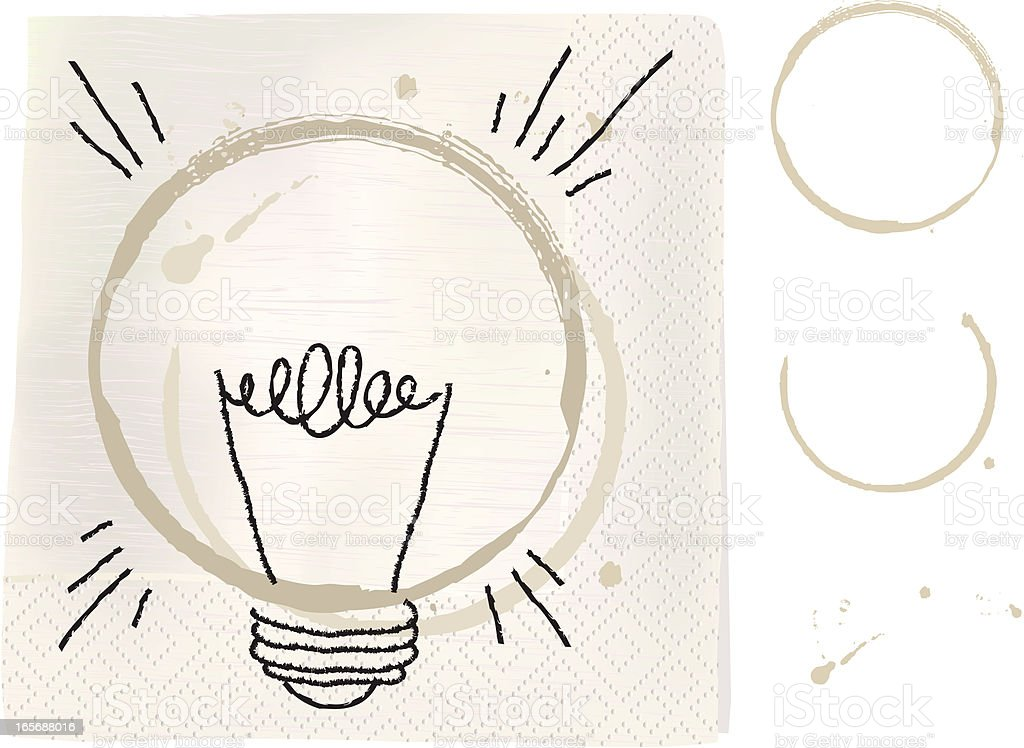 coffee Ring Lightbulb vector art illustration