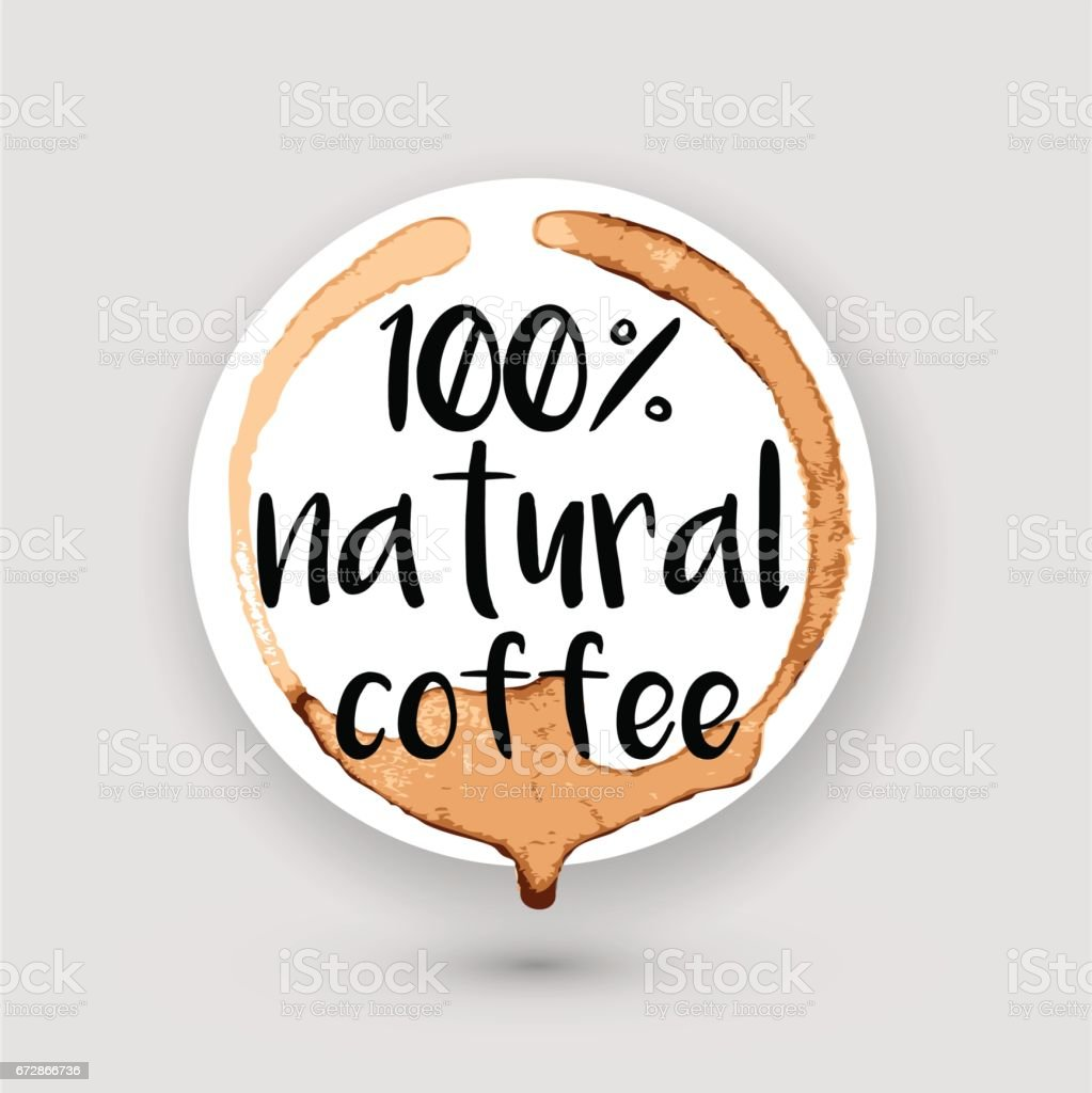 coffee ring sticker vector art illustration