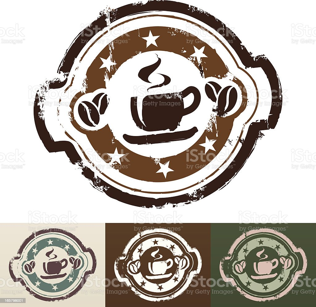 Coffee rubber stamp royalty-free stock vector art