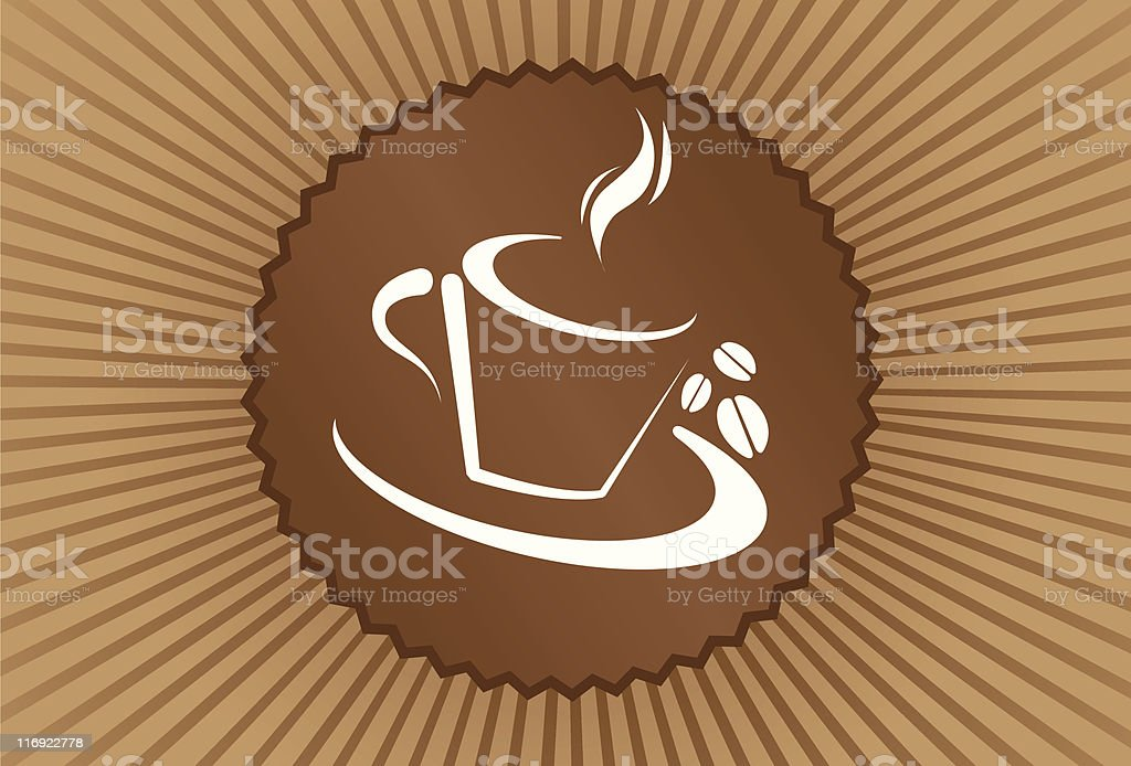 Coffee | Seal Serie royalty-free stock vector art