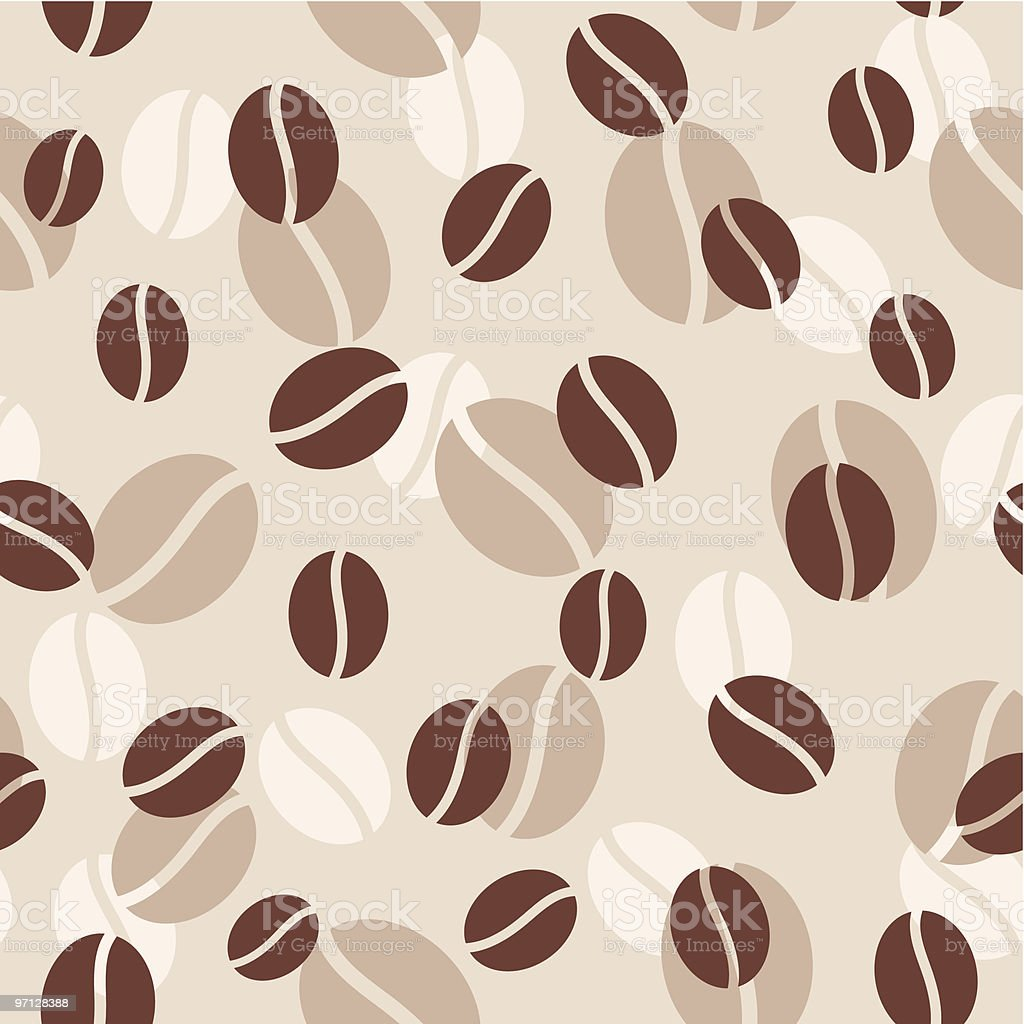 Coffee seamless background. 1 Credit royalty-free stock vector art