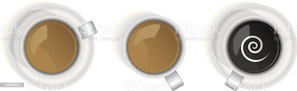 coffee selection vector art illustration