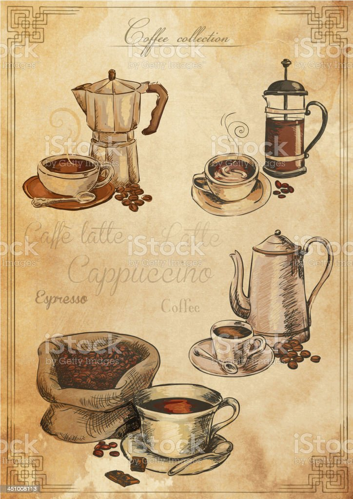 Coffee set royalty-free stock vector art