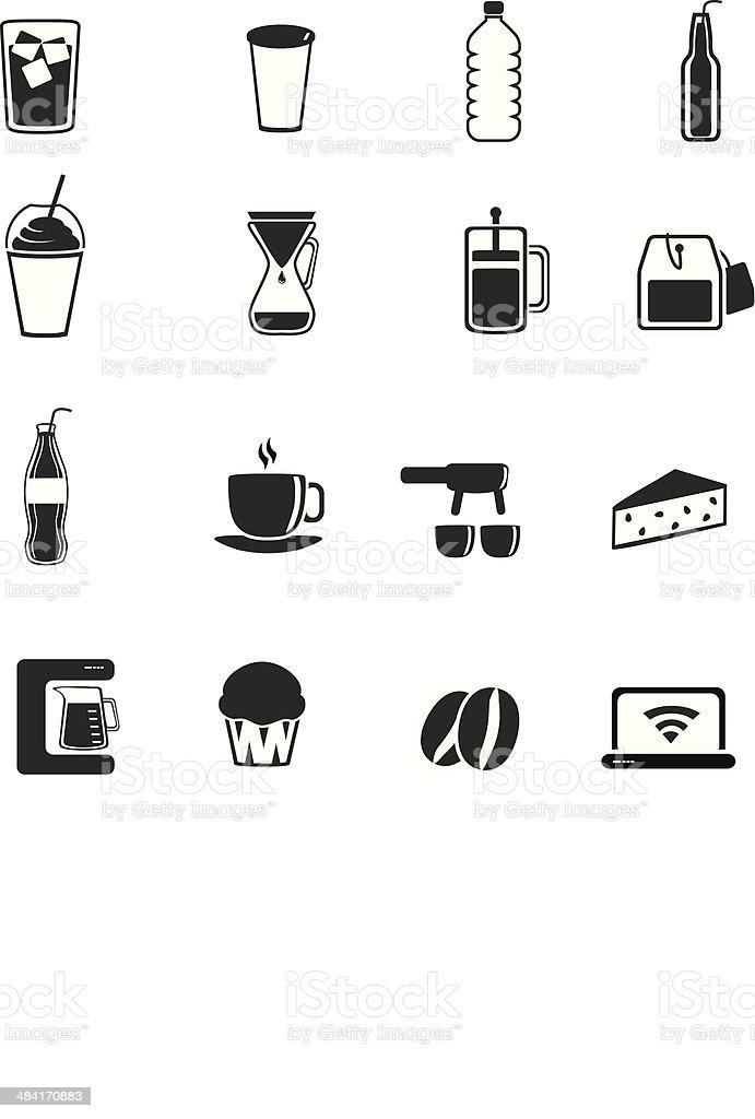 Coffee Shop ?cons royalty-free stock vector art
