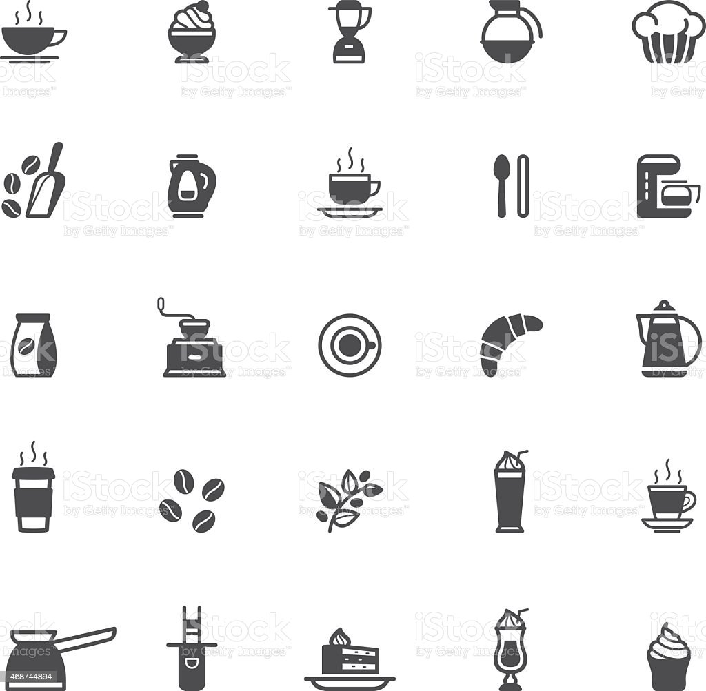 Coffee shop icon vector art illustration