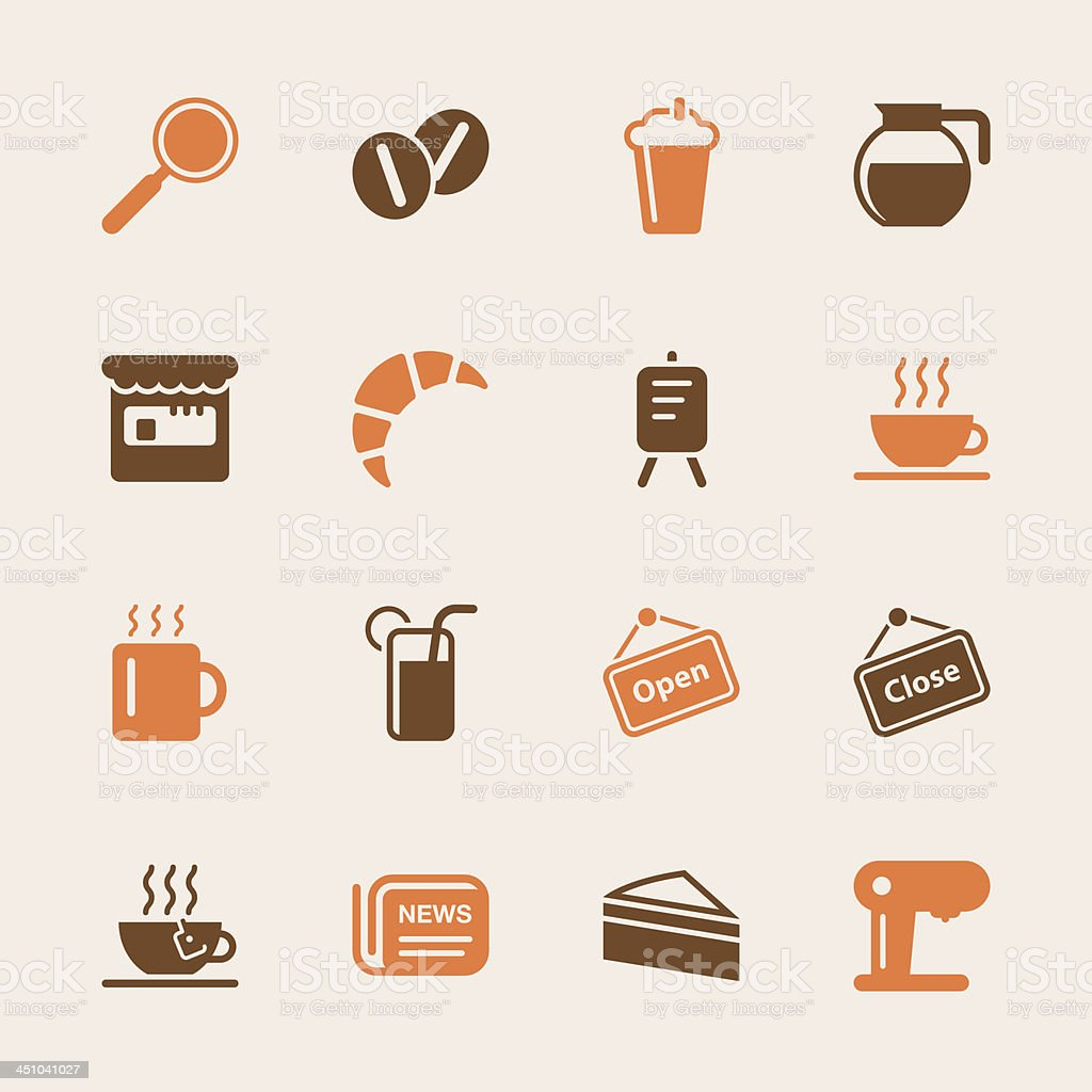 Coffee Shop Icons - Color Series | EPS10 royalty-free stock vector art