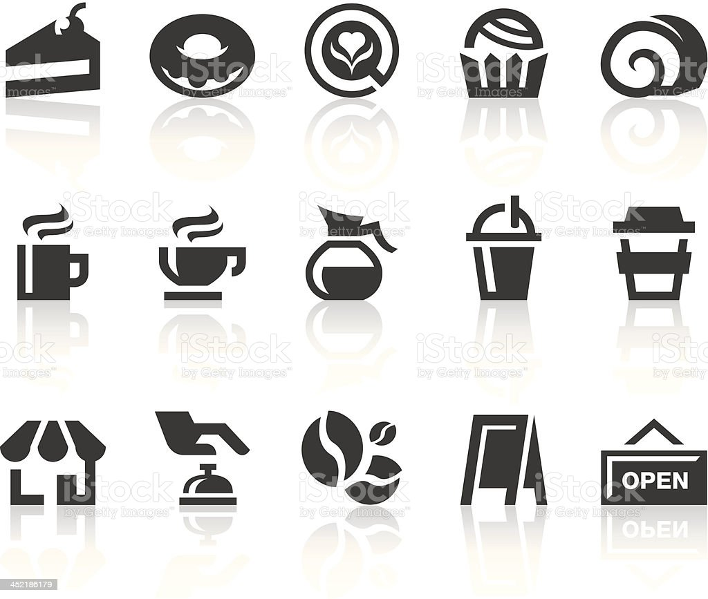 Coffee Shop Icons | Simple Black Series royalty-free stock vector art