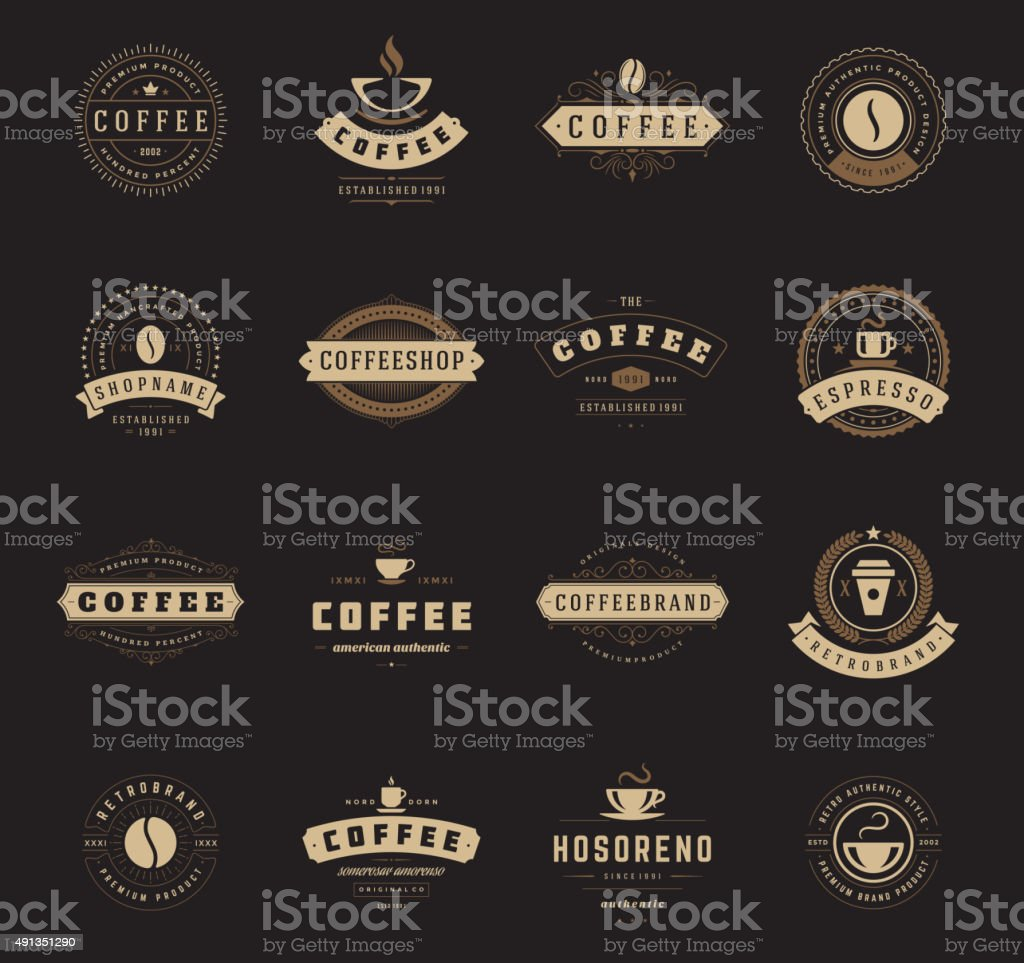 Art logo logo s coffee logo coffee shop coffee design shop logo coffee - Coffee Shop Logos Badges And Labels Design Elements Set Royalty Free Stock Vector Art