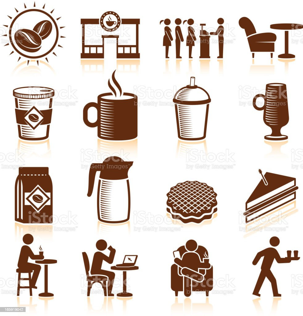 Coffee Shop royalty free vector icon set royalty-free stock vector art