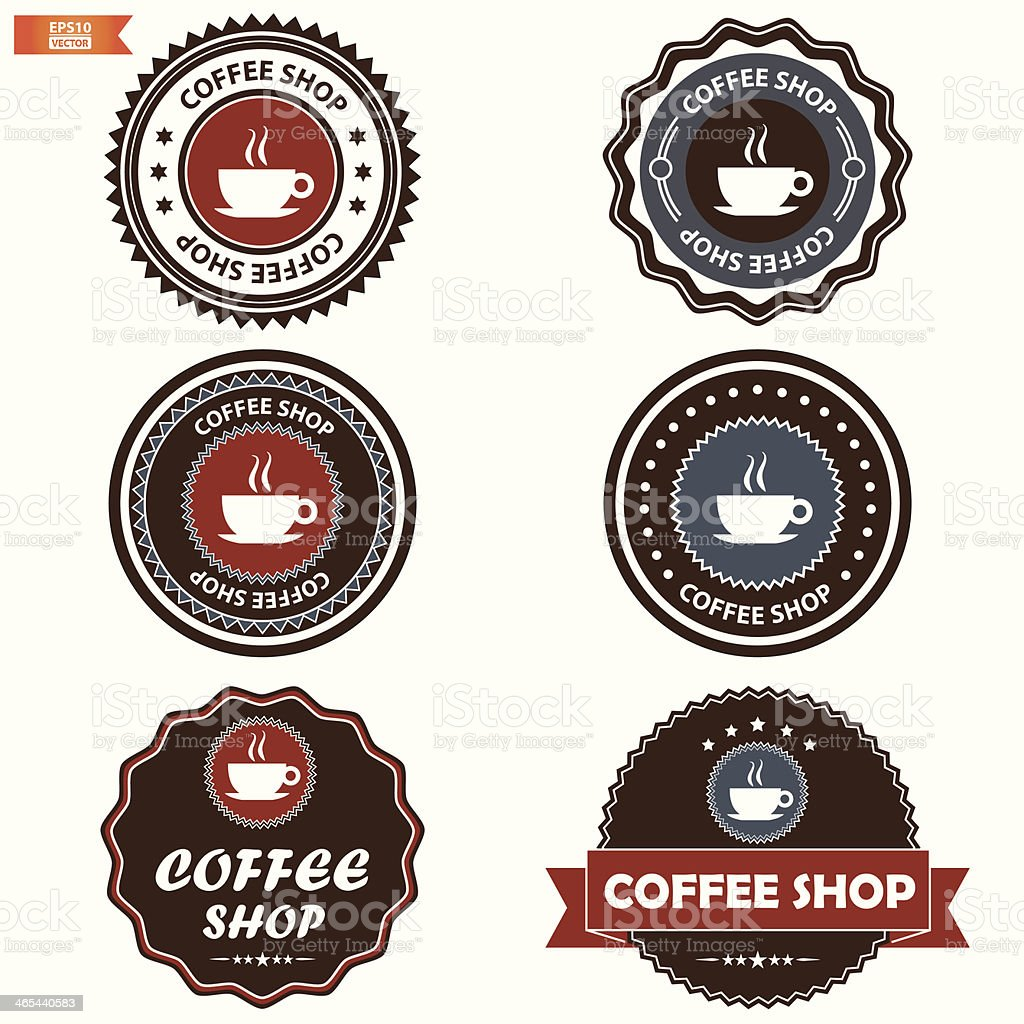 Coffee shop sign set. royalty-free stock vector art