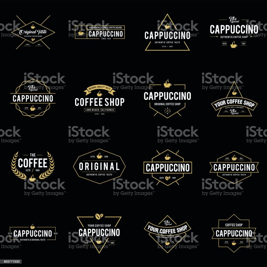 Coffee Shop Vintage Bundle, Cup, Beans, vintage style objects retro vector illustration. vector art illustration
