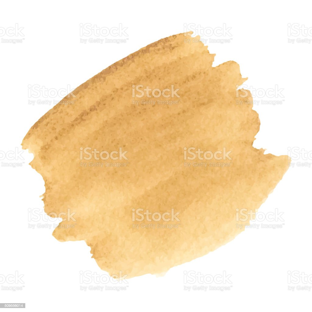 Coffee Stain  Isolated On White Background. vector art illustration