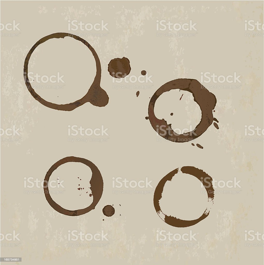 Coffee Stain on paper background vector art illustration